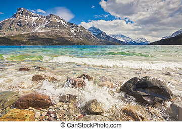 Shore of Waterton National Park - The shores of a beautiful...