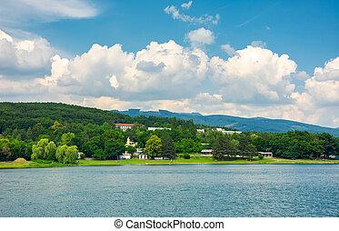 shore of Zemplinska Sirava, Slovakia in summer. beautiful...