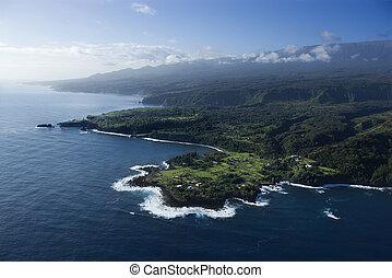 shoreline., hawaiian