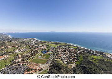 Shoreline View Aerial Malibu California