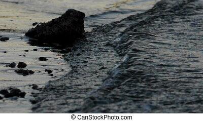 Shores of an ocean with rock