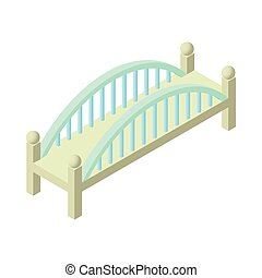 Short bridge icon, cartoon style