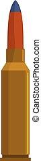 Short cartridge icon, flat style