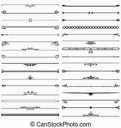 Short dividers - Set of decorative short dividers