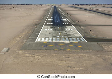 Short Final - Cockpit View of the Runway of Hurghada, Egypt