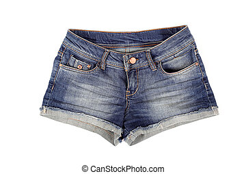 Short jeans shorts - Short jeans blue shorts isolated on...
