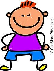 short kid - happy little boy who is a bit on the short side...