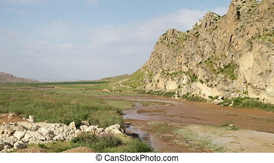 Short Mountain Crag and River Below