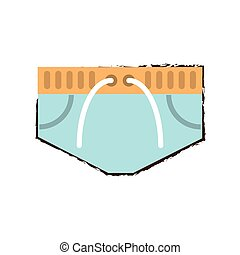 short natation, apparenté, icône
