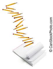 Short Pencils and Writing Pad