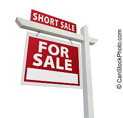 Short Sale Real Estate Sign - Left