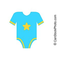 Short Sleeve Blue Romper Jumpsuit with Yellow Star - Short...