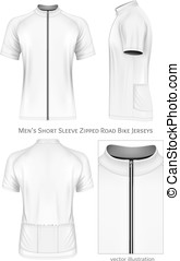 Short sleeve cycling jersey for men.