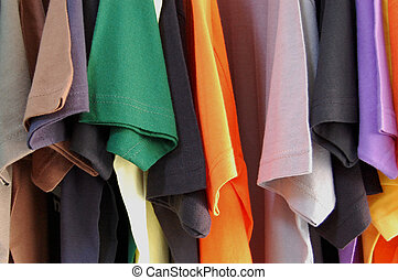 short sleeved t-shirts - Colorful pattern of cotton...