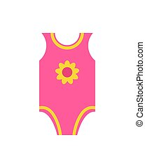 Short Sleeves Pink Jumpsuit Romper Yellow Flower - Short...
