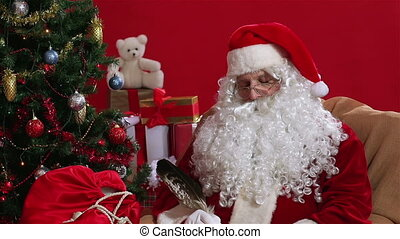 Short slumber - Santa waking up from a short slumber and...
