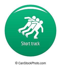 Short track icon green