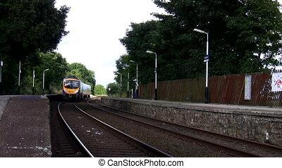 Short train leaves empty station