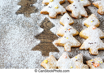 shortbread cookies for Christmas