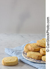 Shortbread on a Plate Copy Space Vertical