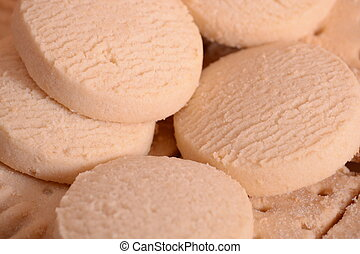 Shortbread rounds - A serving of round shortbread biscuits