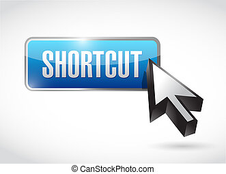 Shortcut button sign concept