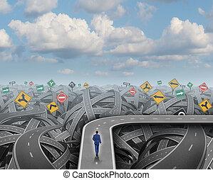 Shortcut Concept - Shortcut direction concept and business...