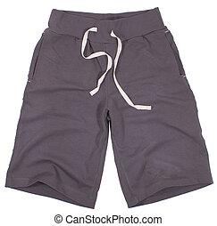 shorts., blanc, sport, isolé