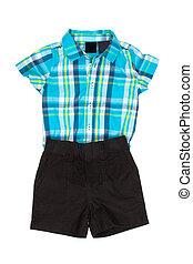 shorts, camisa, crianças