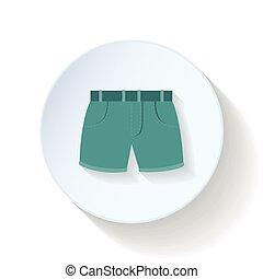 Shorts flat icon