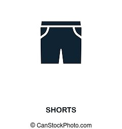 Shorts icon. Flat style icon design. UI. Illustration of shorts icon. Pictogram isolated on white. Ready to use in web design, apps, software, print.