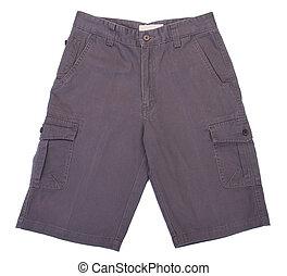 shorts., shorts, ligado, um, fundo
