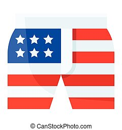 Shorts vector, United state independence day related icon
