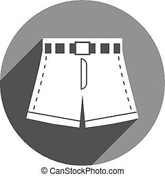 Shorts vector icon isolated.
