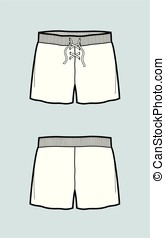Shorts - Vector illustration of shorts. Front and back