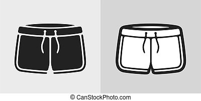 Shorts - Vector illustration of sport shorts, clothes icon