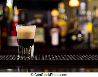 Shot - B-52 shot on a bar counter top