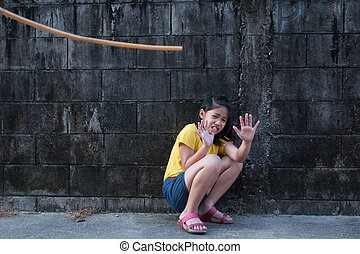 Shot depicting child abuse or punishment