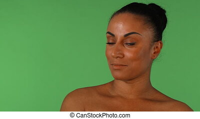Shot of a beautiful African woman looking disappointedly to the camera