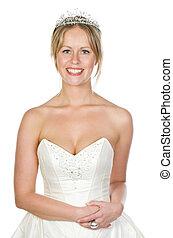 Shot of a Beautiful Blonde Bride