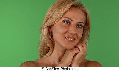 Shot of a beautiful mature woman smiling joyfully - Studio...