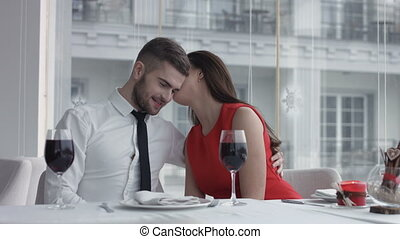 Shot of a beautiful young woman on a date with her husband