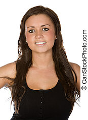 Shot of a Pretty Teenager on White Background