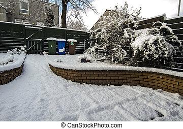 Snow covered Garden - Shot of a Snow covered Garden