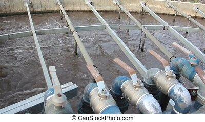 Air valves wastewater treatment facility - Shot of Air...