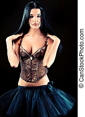 lingerie - Shot of an attractive young woman in sexual...