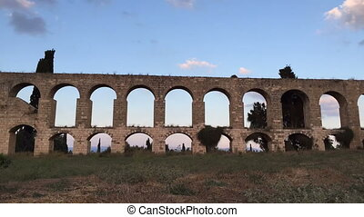 Aqueduct of Acre - Shot of Aqueduct of Acre