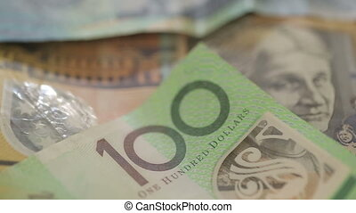 Australian dollar bills rotating - Shot of Australian dollar...