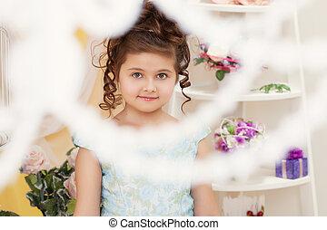 Shot of beautiful little girl smiling at camera