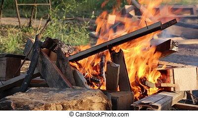 Shot of bonfire